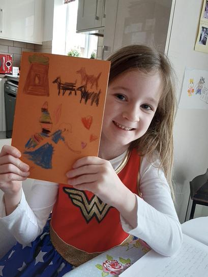 Jasmine's card from Tallulah.
