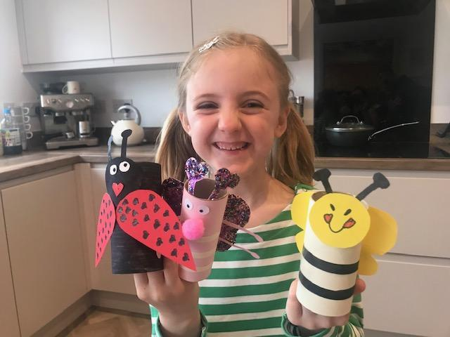 Lily had a fun weekend crafting.