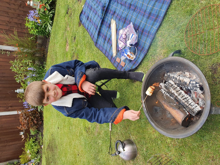 Toasting marshmallows...