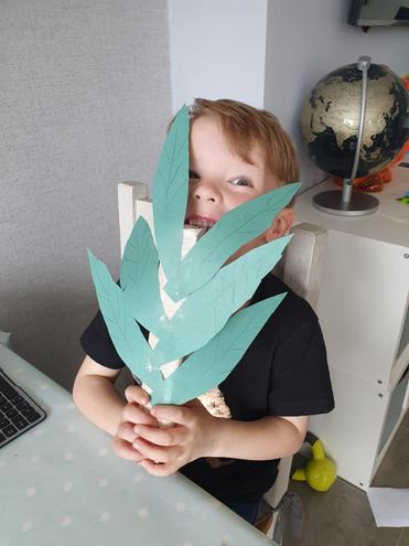 Zachary's paper Palm Leaves.