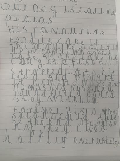 Look at Luke's amazing writing!
