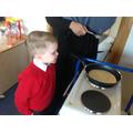 We enjoyed making, cooking and eating the pancakes