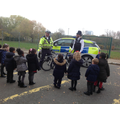 We looked at the police bike and car