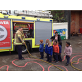 We looked at the fire engine