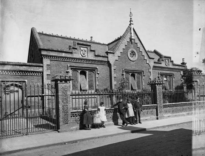 c1865. The school from College Street
