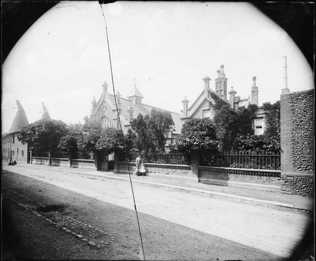 c1865. The school from Bridewell Lane