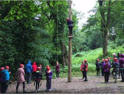 High Rope challenge - what a resilient bunch!