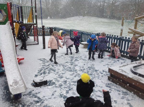 We had lots of fun in the snow