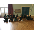 Year 6 in leavers hoodies