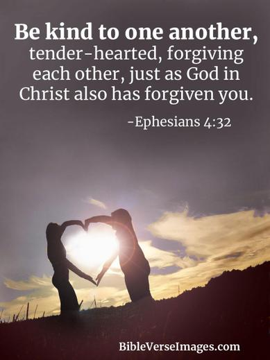 This is our bible verse for our forgiveness value