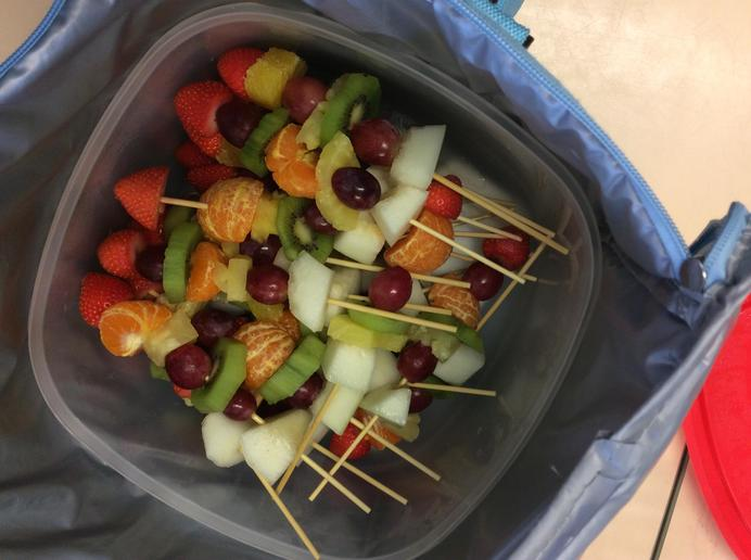 Tasty fruit kebabs