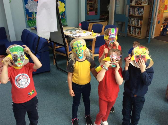 Tribal masks in Year 1