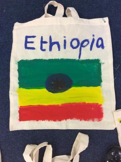 Ethiopia Flag on cotton bag