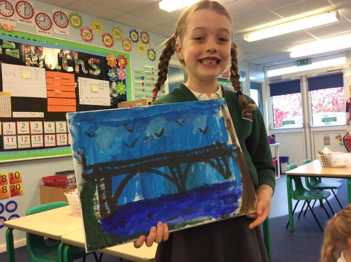 Canvas painting of Gunthorpe Bridge