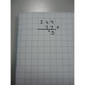Multiply 7 x 9 = 63