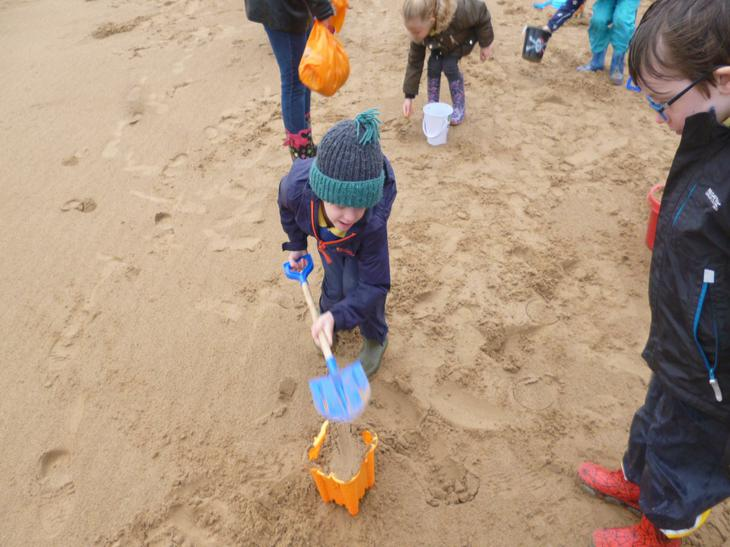 Busy building sandcastles