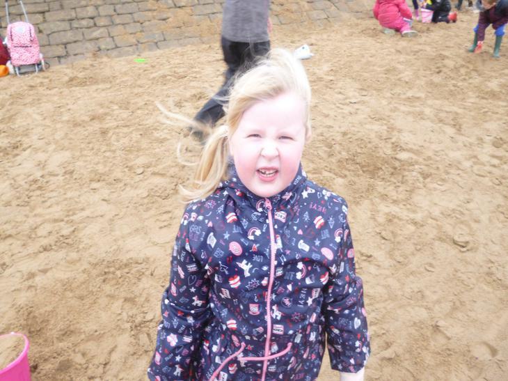 It was a bit windy!!