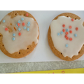 Red, white and blue biscuit decorating