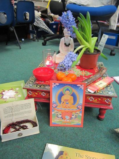 Our Buddhist shrine.