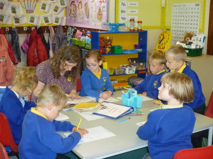 Working with Mrs Lowe.