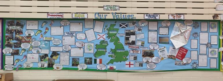 Our British Values Display