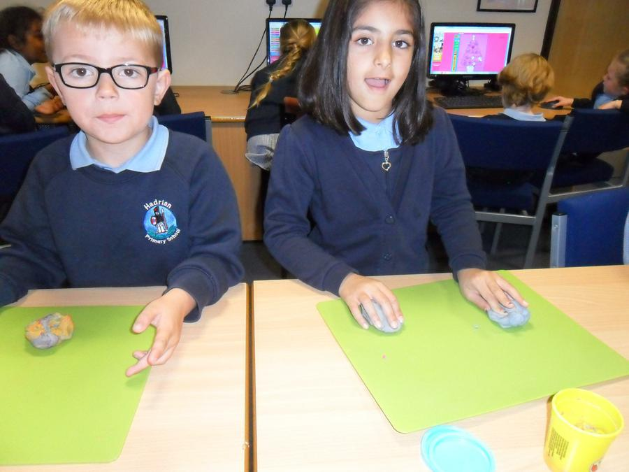 Developing mouse skills using playdough!