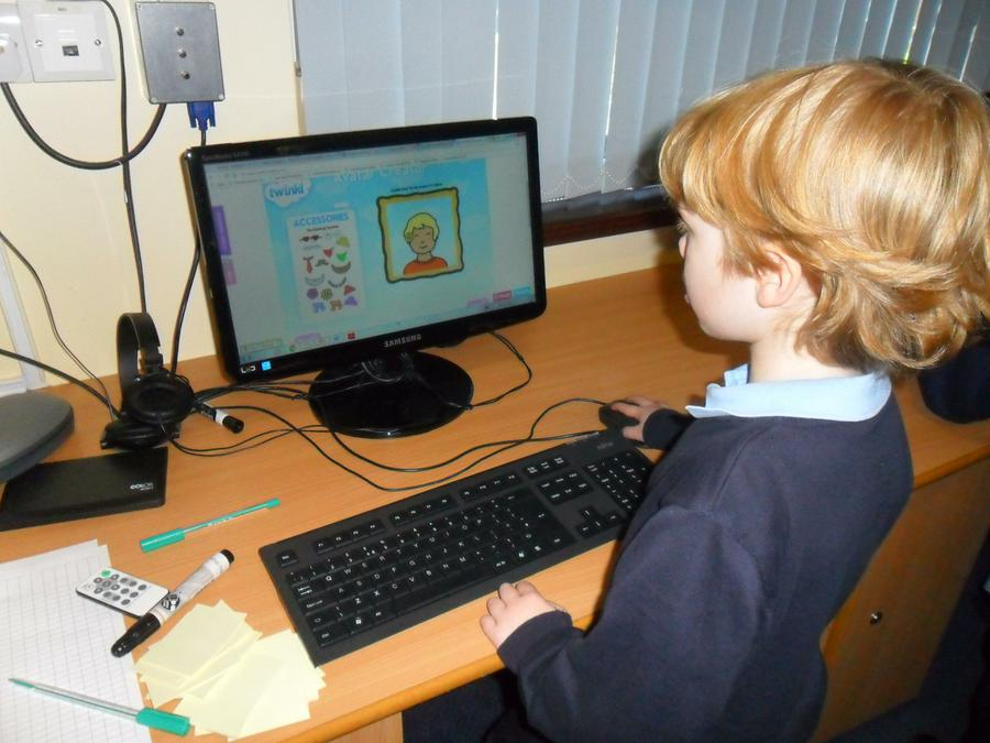 Working in the computing suite.