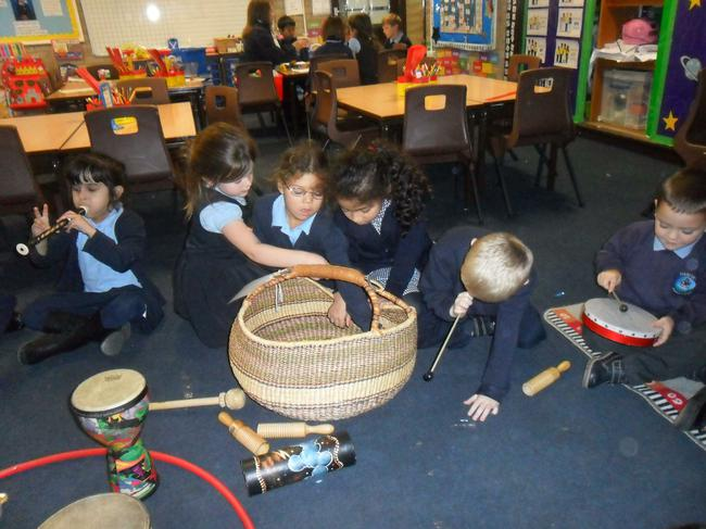 Exploring sounds in music.