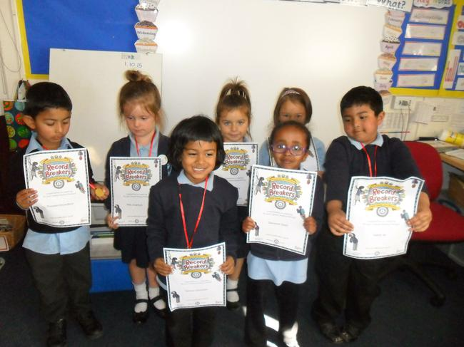 Medals and certificates for summer reading!