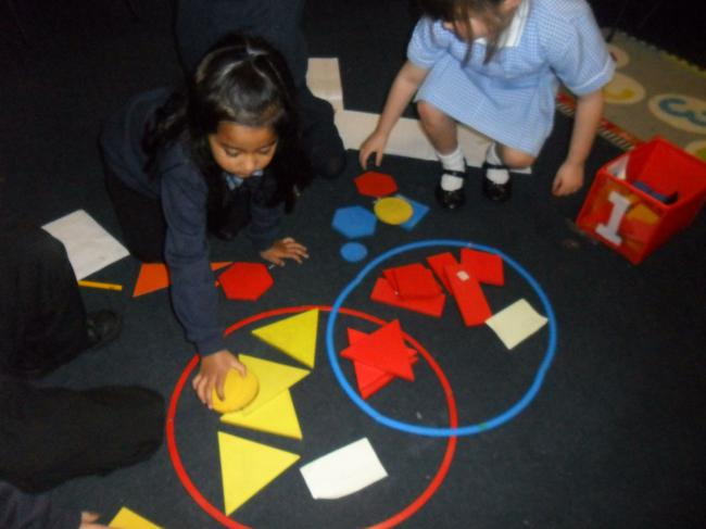 Sorting 2D shapes in Maths