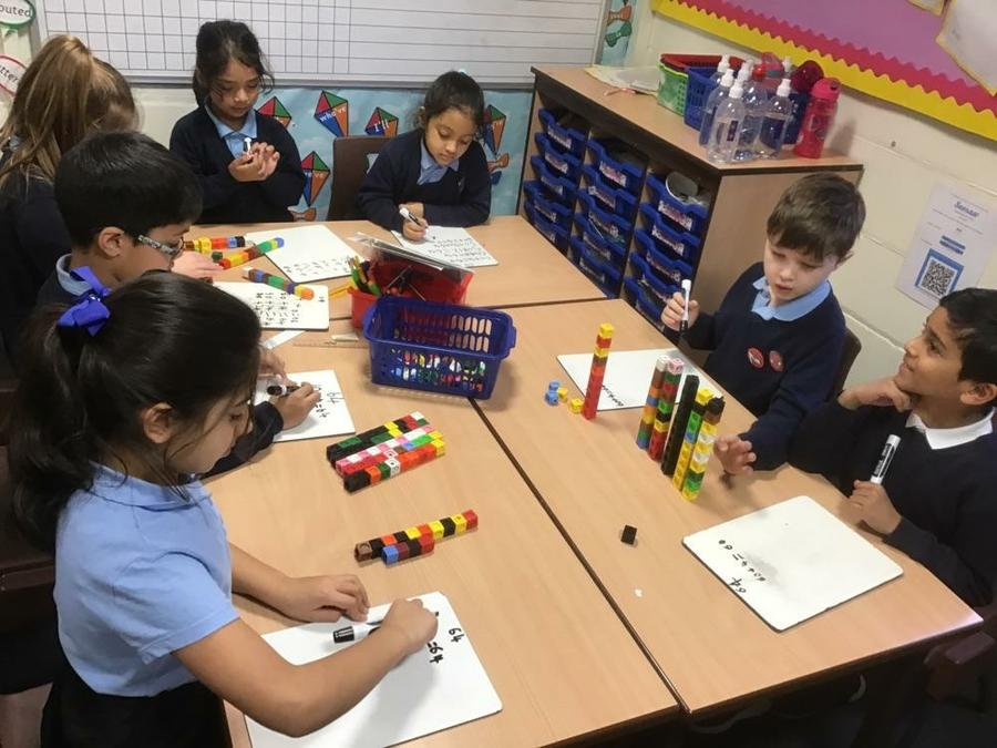 partitioning two digit numbers in different ways