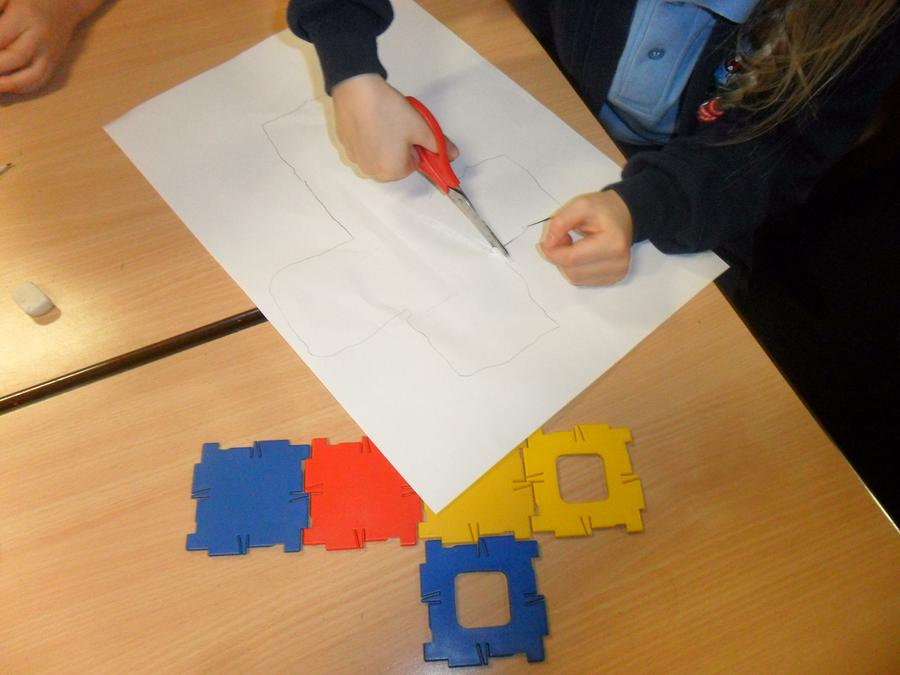 Investigating nets of 3D shapes.