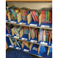 Books thinned out so that children can see and choose properly