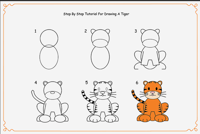 draw a tiger step by step 2