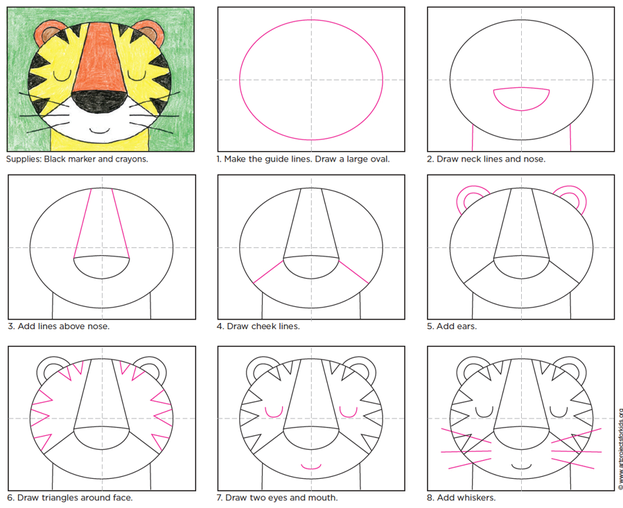 draw a tiger step by step