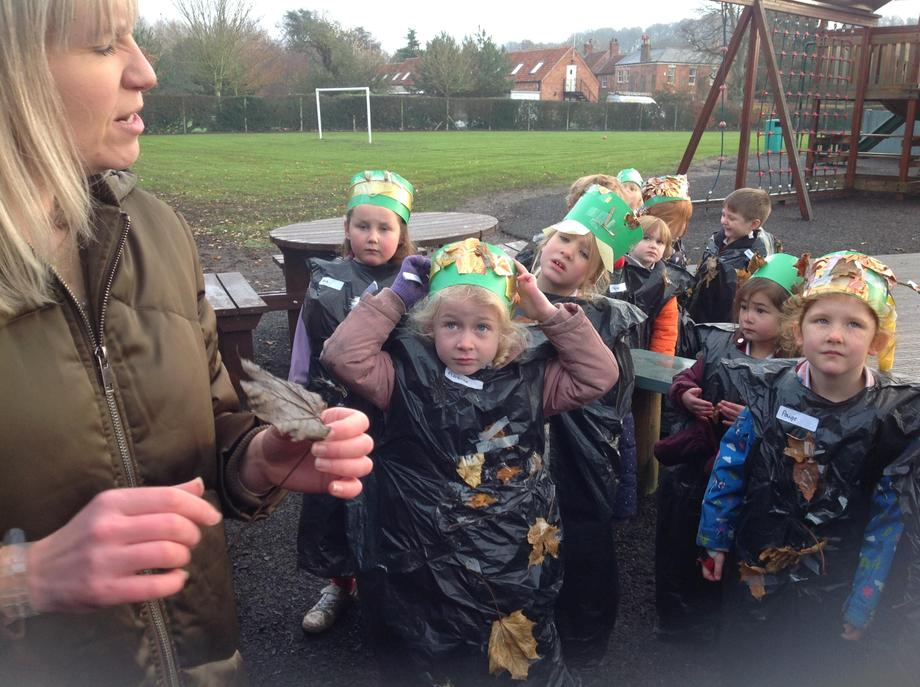 Leaf Man had been up to all sorts of trouble all over our school playground!