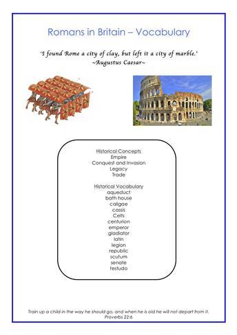 Vocabulary - History Example