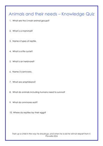 Quiz - Science Example