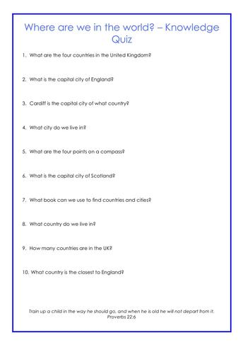 Quiz - Geography Example