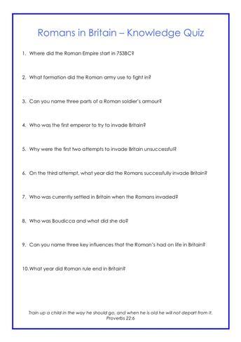 Quiz - History Example