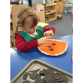 Looking at shapes used to make pumpkin faces