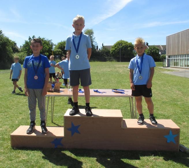 Year 5 Boys Long Race Winners