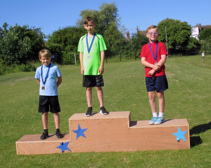 Year 3 Boys Short Race Winners