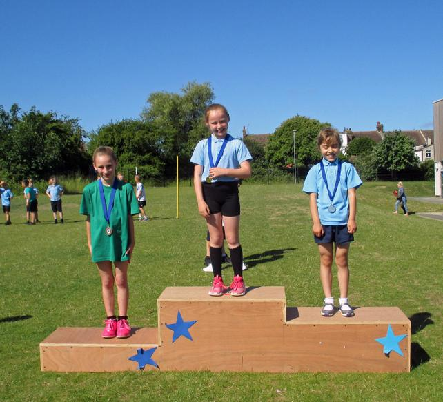 Year 3 Girls Short Race Winners