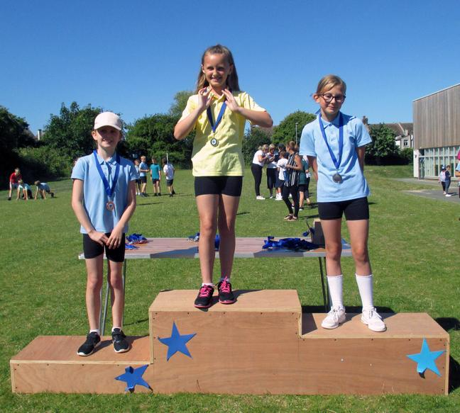 Year 4 Girls Short Race Winners