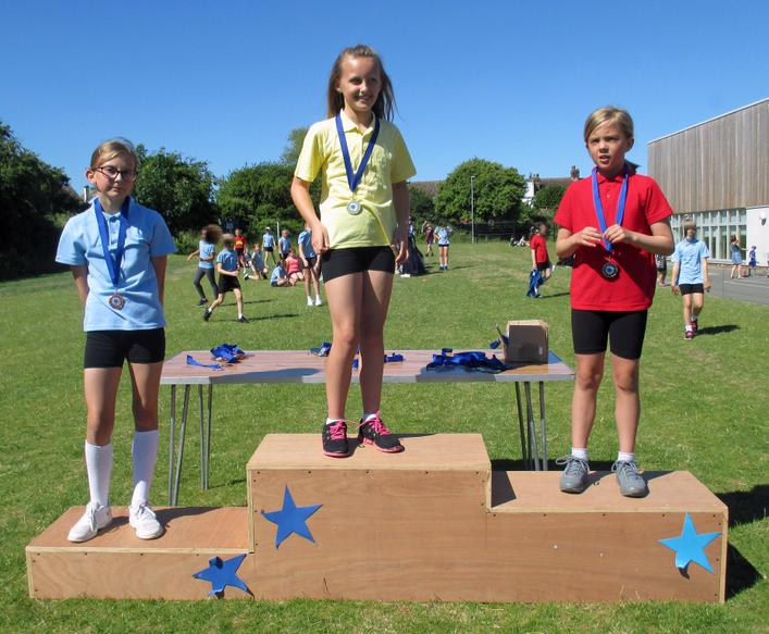Year 4 Girls Long Race Winners