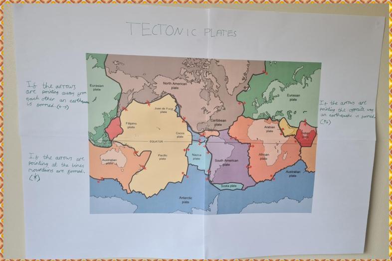 Sophie's super tectonic plates map