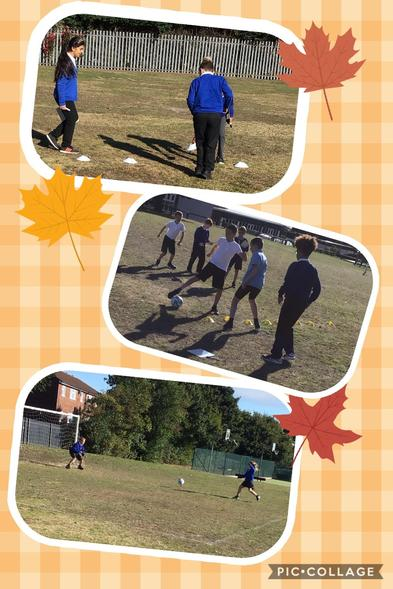 6AW mixed PE & Maths together to practice their place value, addition & football skills!