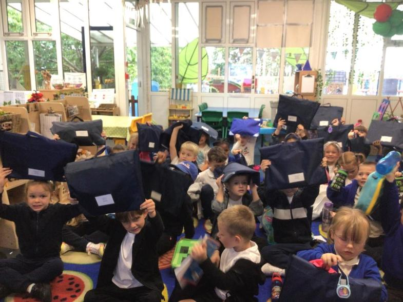 The children have been given their very 1st reading books in Year 1! They're very excited!