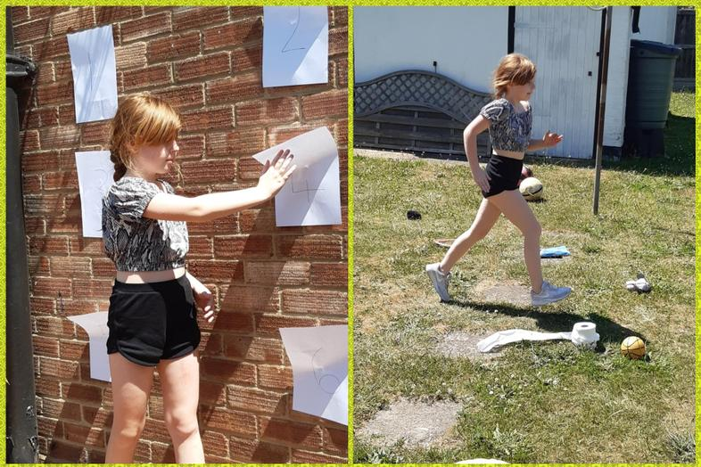 Chloe in action at both games